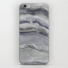 Watercolor Agate in Gray iPhone Skin