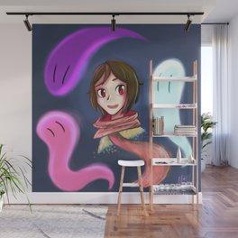 Glowing Ghosts Wall Mural