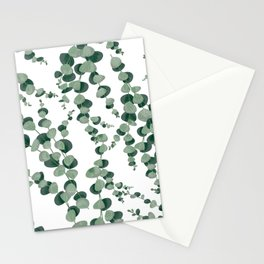 Eucalyptus leaves in white Stationery Cards