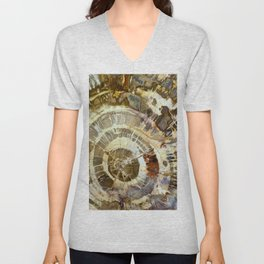 Abstract mineral texture Unisex V-Neck