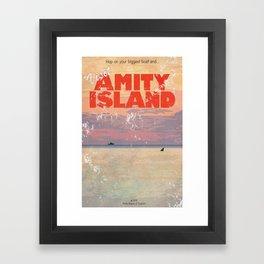 Amity Island Tourism board Framed Art Print