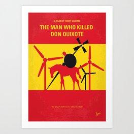 No1008 My The Man Who Killed Don Quixote minimal movie poster Art Print