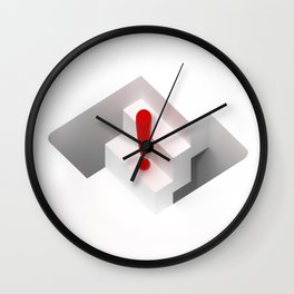 an optical illusion artwork of a stair steps that can go up or down Wall Clock