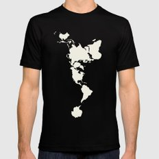 Dymaxion Map LARGE Black Mens Fitted Tee