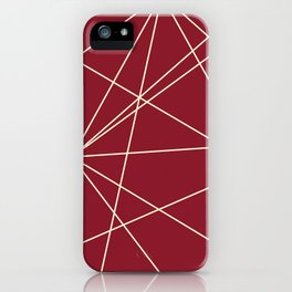 Prism Red and Yellow iPhone Case