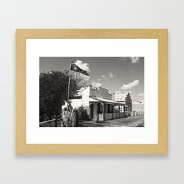 Small Town Pride Framed Art Print