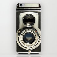 old iPhone & iPod Skins featuring Vintage Camera by Ewan Arnolda