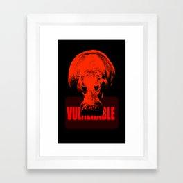 Vulnerable Hippopotamus Framed Art Print