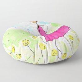 Tia Running So Happy Floor Pillow