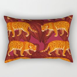 Danger in Deep Red Rectangular Pillow