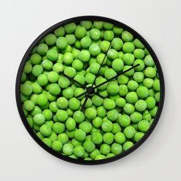 frozen peas Wall Clock