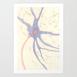 Starry night brain cell. Art Print