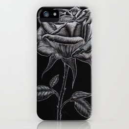 Silver Rose iPhone Case