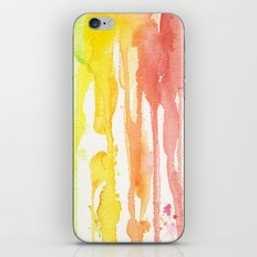 Rainbow Watercolor Texture Pattern Abstract iPhone & iPod Skin
