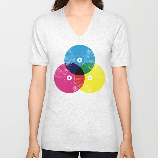 Music is the colors of life Unisex V-Neck