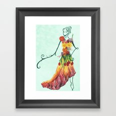 Female Floral Framed Art Print
