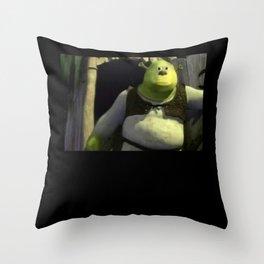 Shrek Meme Throw Pillow