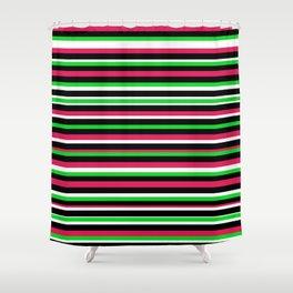 Bright Stripes Shower Curtain