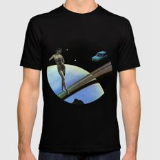 I can't see you. I'm dead MEDIUM Mens Fitted Tee Black