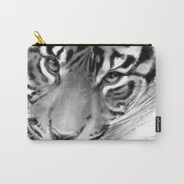 Tiger - Black and White Carry-All Pouch