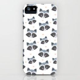 Mapache pattern iPhone Case