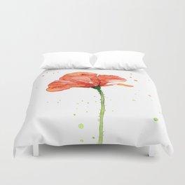 Abstract Red Poppy Flower Duvet Cover