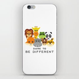 Dare to Be Different Gang of Animals iPhone Skin
