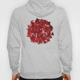 Abstract Red Hoody