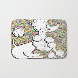 White Poodle Bath Mat