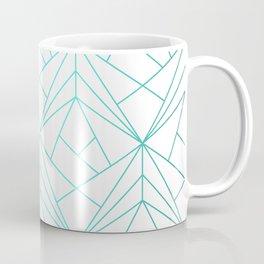 Geometric Turquoise Pattern Coffee Mug