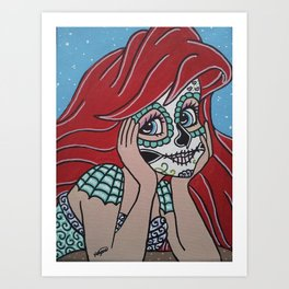 Ariel Sugar Skull 2 Art Print