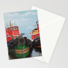 Tugboats on Penobscot Bay Stationery Cards