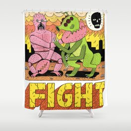 FIGHT! Shower Curtain