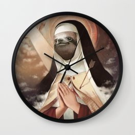 Sloth Mother Wall Clock