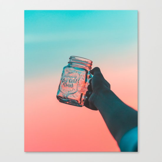 Mason jar sunset Canvas Print