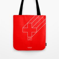 switzerland Tote Bags featuring Switzerland by Skiller Moves