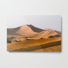 Dunes at sunset, Sossusvlei, Landscape | Namibia travel photography, Art Print Metal Print
