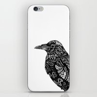 raven iPhone & iPod Skins featuring Raven by Rebexi