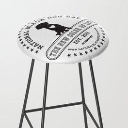 Black Dog Day Official Logo Bar Stool