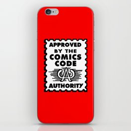 Approved by the Comics Code iPhone Skin