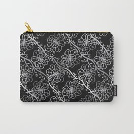 Metallic Flowers Carry-All Pouch