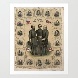 Four versions of the Flags of the Confederacy Art Print
