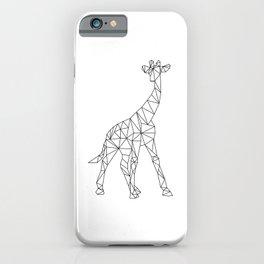 Geometric Giraffe iPhone Case