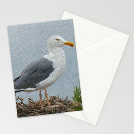 western gull - painting Stationery Cards
