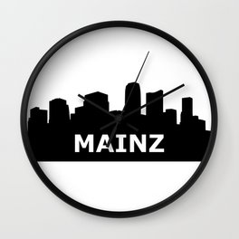 Mainz Skyline Wall Clock
