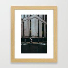 Boston in November Framed Art Print