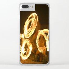 Fire Dancing Pattern Clear iPhone Case