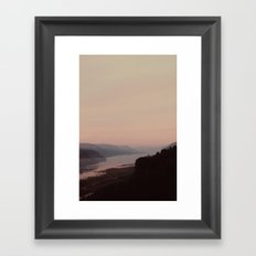 columbia River Gorge  Framed Art Print