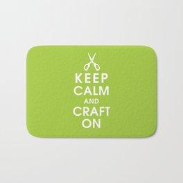 Keep Calm and Craft On Bath Mat