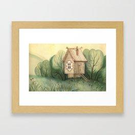 small hut Framed Art Print